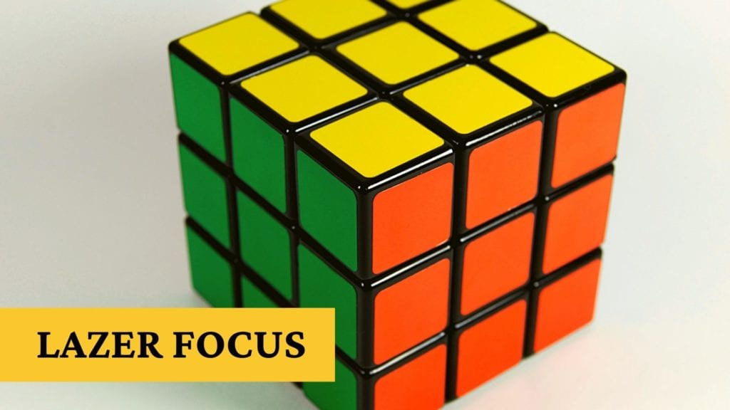 Lazer focus and find mental clarity